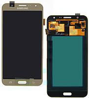 Дисплей (экран) для Samsung J700F/J700H/J700M/DS Galaxy J7 + с сенсором (тачскрином) золотистый Оригинал
