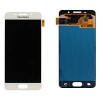 Дисплей (экран) для Samsung A310F Galaxy A3/A310M/A310N/A310Y  (2016) + с сенсором (тачскрином) Оригинал белый