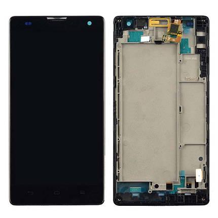 Дисплей (экран) для Honor 3C Lite с сенсором (тачскрином) и рамкой черный, фото 2
