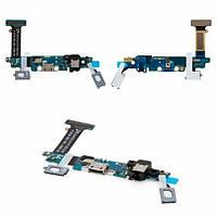 Шлейф для Samsung G920F с разъемом зарядки и гарнитуры, кнопкой Home, сенсорными кнопками, микрофоном