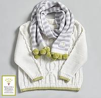 Детский вязаный свитер из органического хлопка (12-24 мес), Natures Knits