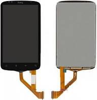 Дисплей (экран) для HTC S510e Desire S G12 + с сенсором (тачскрином) черный, узкий шлейф