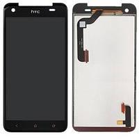 Дисплей (экран) для HTC X920d Butterfly + с сенсором (тачскрином) черный Оригинал (137*68 мм)