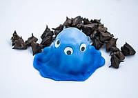Жвачка для рук Хендгам Хамелеон 50гр синий запах фруктовый Украина Supergum Putty, Nano gum