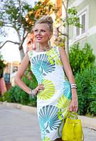 Шикарное летнее платье из хлопка Тропикана
