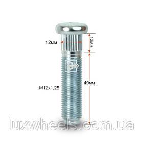 Шпилька забивная CRP120B40 M12X1,25 длина рез.части 40мм Цинк