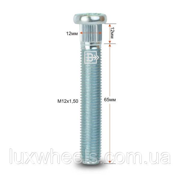 Шпилька забивная CRP120A65 M12X1,50 длина рез.части 65мм Цинк