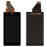Дисплей (экран) для Sony Xperia ZR C5503/C5502 M36h + с сенсором (тачскрином) черный Оригинал