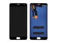 Дисплей (экран) для Meizu M1 Note Metal с сенсором (тачскрином) черный, фото 2