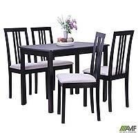 Комплект Парма (стол+4 стула) венге/BELEN беж