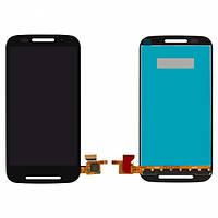 Дисплей (экран) для Motorola XT1021/XT1022/XT1025 Moto E + с сенсором (тачскрином) черный Оригинал