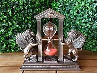 Коллекционная статуэтка, песочные часы Veronese Крылатые львы WU77008A4