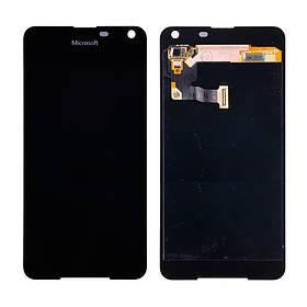 Дисплей (экран) для Microsoft (Nokia) 650 Lumia (RM-1154) с сенсором (тачскрином) черный Оригинал