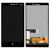 Дисплей (экран) для Nokia 930 Lumia с сенсором (тачскрином) черный Оригинал