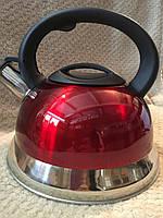 Чайник зі свистком 3 л червоний