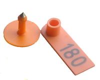 Ушная бирка номерная  52*18мм