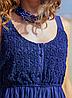 Летнее синее платье сарафан с кружевом, фото 2