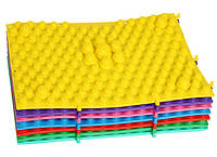 Массажный (ортопедический) коврик-пазл CS-4601-Y желтый