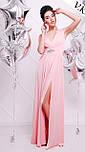 Женское красивое вечернее платье в пол с украшением (5 цветов), фото 3