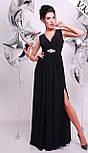 Женское красивое вечернее платье в пол с украшением (5 цветов), фото 5
