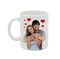 Чашка с Вашим дизайном керамическая белая десертная, фото 1