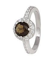Серебряное кольцо с фианитом КК2ФРТ/437 - 19