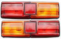 Фонари задние ВАЗ-2101,21011,21013 (Красно-желтые)(Рифленые), фото 1