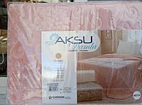 Покрывало плед Aksu 220*240 Евро размер.Пудра.