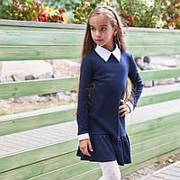 Красивое школьное платье с воротником для девочки