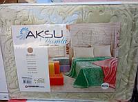 Плед покрывало Aksu 220*240 Евро размер.Оливковый.