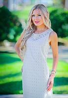 Шикарное летнее платье из хлопка цвета нюд