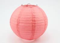 Шар плиссе декоративный подвесной  25  см. коралловый