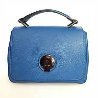 Шикарная кожаная сумка, Италия, электрик (синий)