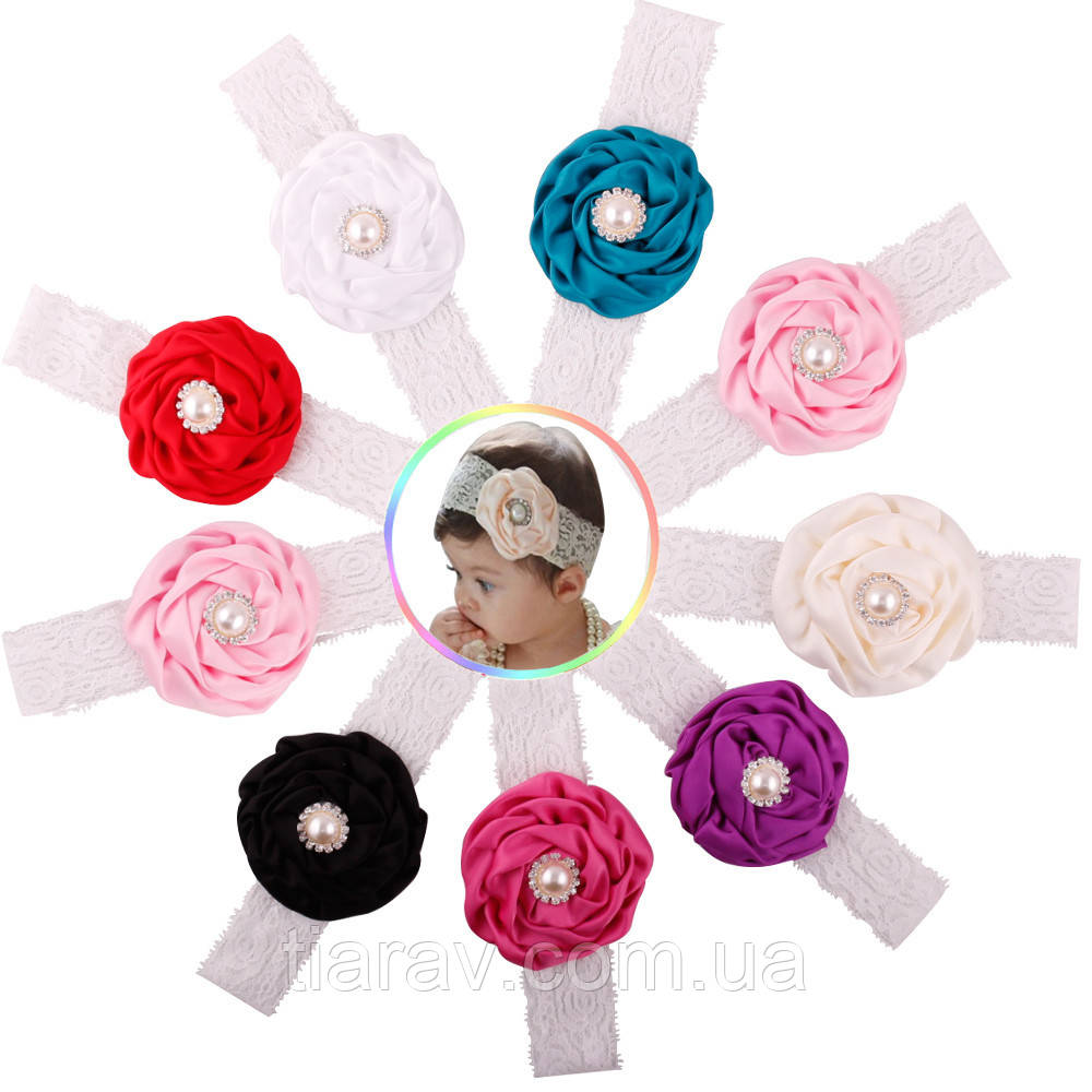 Детская повязка, ПИОНА, для волос украшения, для волос детские повязки для волос