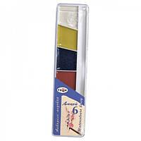 Краски акварельные Гамма 6цв пластик
