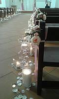 Белые насыпные свечи+фитиль