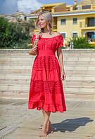 Шикарное платье с кружевом Коралл