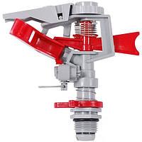 Дождеватель пульсирующий Intertool с полной/частичной зоной полива на костыле (GE-0065)