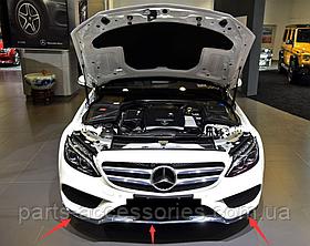 Mercedes C-Class W205 2015-17 хромові молдинги переднього бампера AMG пакет Нові Оригінальні