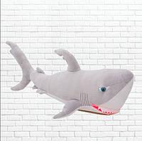 Детская мягкая игрушка,акула Брюс,серая