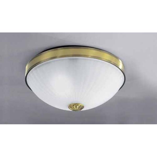 Потолочный светильник RECCAGNI ANGELO PL 3027/3 бронза/белый