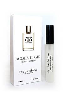 Мужской мини-парфюм с феромонами  Armani Acqua Di Gio Men (Армани Аква Ди Джио Мен), 10 мл