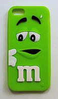 Чехол на Айфон 5/5s/SE M&Ms приятный Силикон Зеленый, фото 1