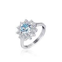 Серебряное кольцо с фианитом КК2ФТ/379 - 19,3