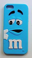 Чехол на Айфон 5/5s/SE M&Ms приятный Силикон Голубой, фото 1