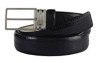 Ремень кожаный ящерица Piquadro C22/Black U2407C22_N ДхШ: 125х3 см. черный
