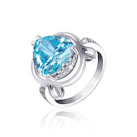 Серебряное кольцо с фианитом КК2ФТ/379 - 16,8