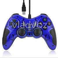 Игровой джойстик геймпад USB COR14 для ПК синий