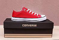 Кеды Converse All Star красные (конверс олл стар низкие)