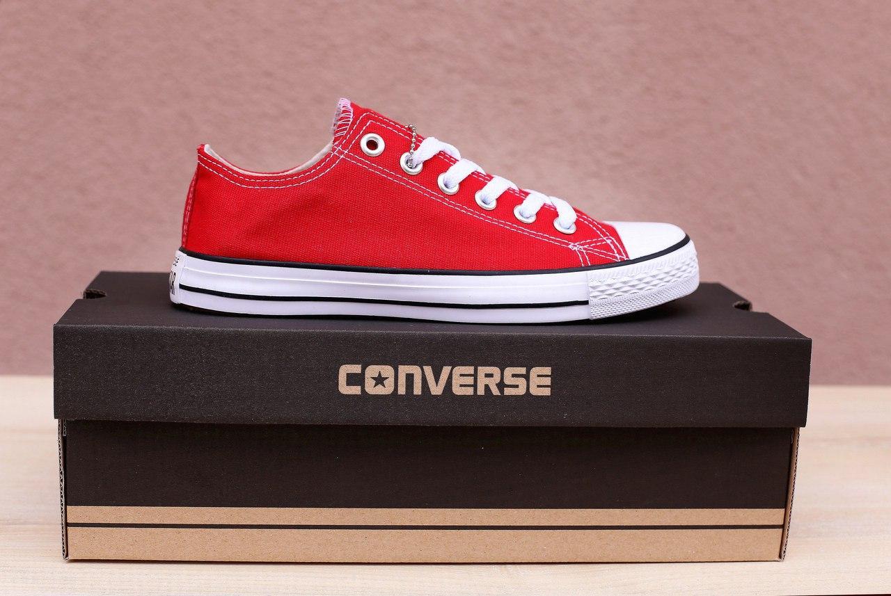 Кеды Converse All Star красные (конверс олл стар низкие) купить ... 7e326ef28cf